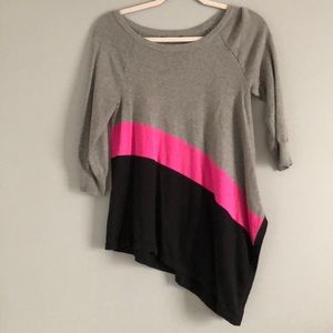 Cable & Gauge Asymmetrical Sweater Small